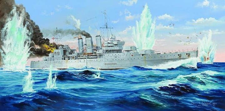 HMS Cornwall / 1:350