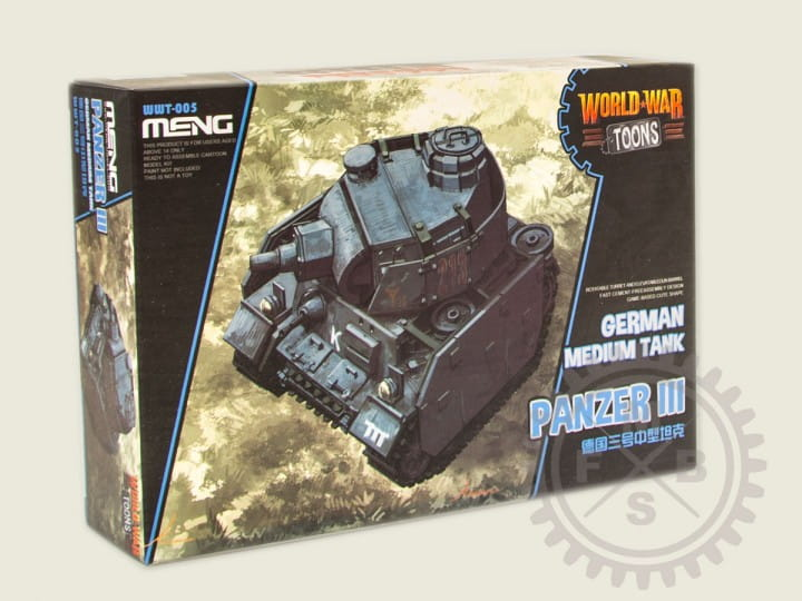 Meng Models World War Toons: German Medium Tank Panzer III (cartoon model)
