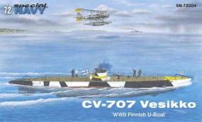 CV 707 Vesikko - WWII Finnish U-Boat - / 1:72