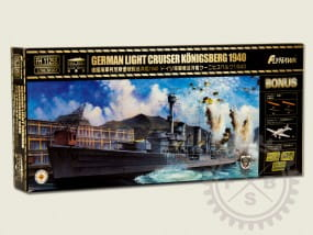 German Light Cruiser Königsberg 1940 - deluxe / 1:700
