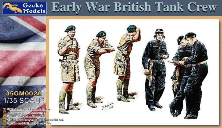 Early War British Tank Crew / 1:35