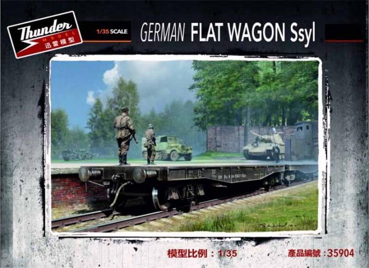 Thunder Model German Flat Wagon Ssyl / 1:35