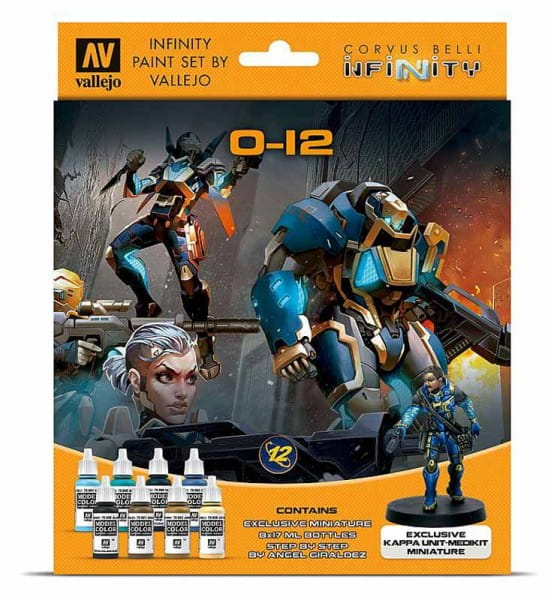 Vallejo Vallejo Model Color: Infinity O-12 Exclusive Miniature Paint Set (8x17ml)