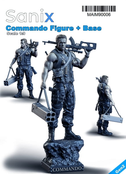 Commando; Figure + Base / 1:9