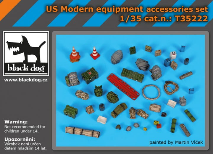 Black Dog US modern equipment accessoris set / 1:35
