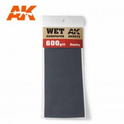 Wet Sandpaper 600 Grit. 3 units