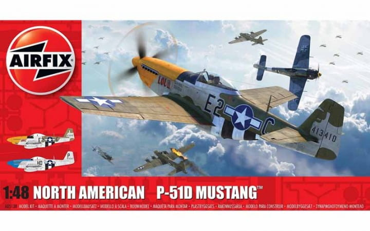Airfix North American P51-D Mustang (Filletless Tails) / 1:48