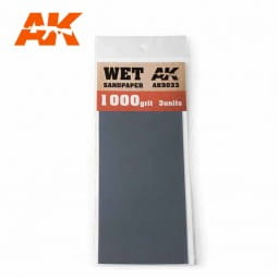 Wet Sandpaper 1000 Grit. 3 units