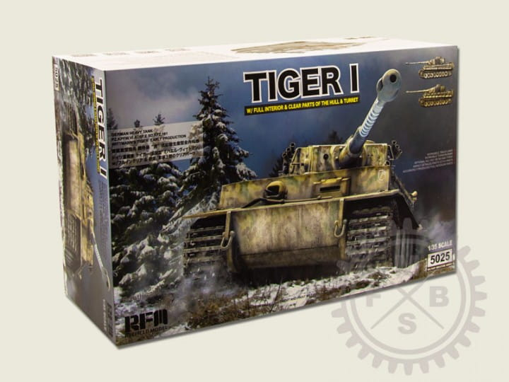 Rye Field Model German Tiger I Early Production Wittmann's Tiger No. 504 / 1:35