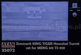 ZIMMERIT KING TIGER Henschel Turret - Meng - / 1:35