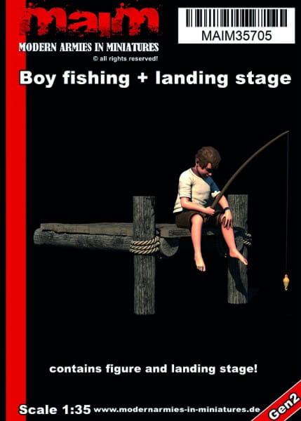 MAiM / Front46 Boy fishing + small landing stage / 1:35