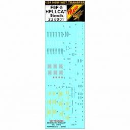 WET TRANSFER: F6F-5 Hellcat - Stencils / 1:24