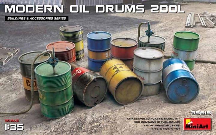 Modern Oil Drums (200l) / 1:35