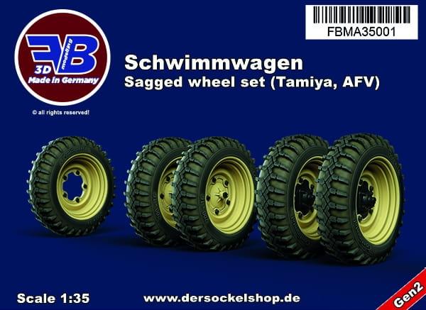 Schwimmwagen; sagged wheel set / 1:35