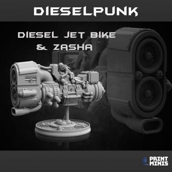 Diesel Jet Bike & Rider -Dieselpunk Collection-